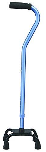 carex health brands canes Carex Health Brands Quad Cane, Blue Satin