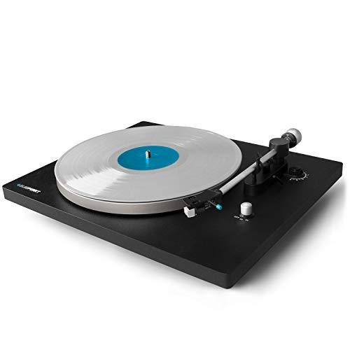 Blaupunkt TT 100 Plattenspieler mit gefederten Standfüßen, Schallplattenspieler mit hochwertigem Audio Technika TT Tonarm, Schallplatten hören mit einem einzigartigen Klang, Analoges Turntable