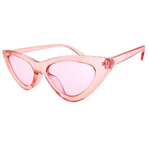Gafas de sol triangulares europeas y americanas para mujer de moda ojo de gato gafas de sol transparentes lente océano marco polvo