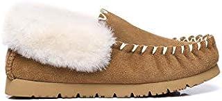 UGG Slippers Australian Premium Soft Sheepskin Wool Winter Home Cozy Womens Slipper Popo Moccasin Shoes