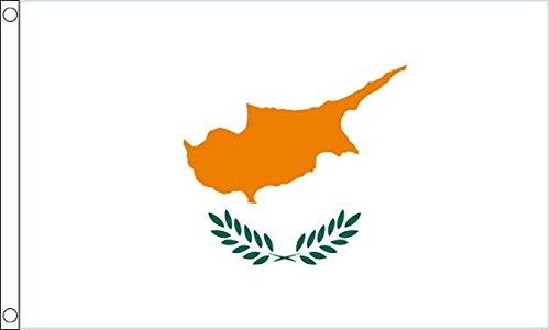 Flagtex Unisex's Cyprus vlag, meerkleurig, groot
