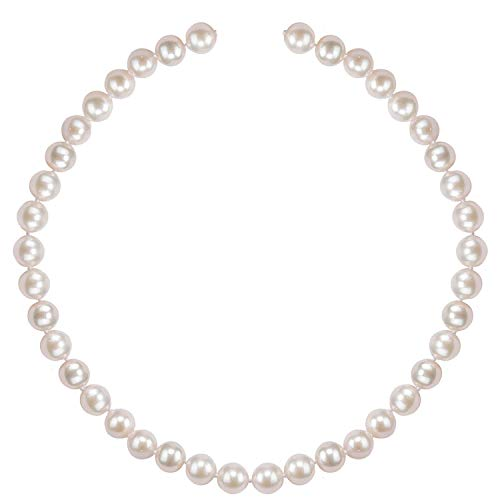 PAVOI Sterling Silver White Freshwater Cultured Pearl Necklace (24, 5mm)