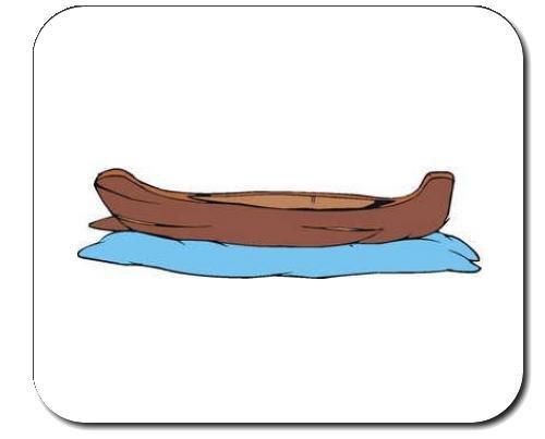 Mauspad mit der Grafik: Kanada, Boot, Verkehr, reisen, Wasser, Kanu,