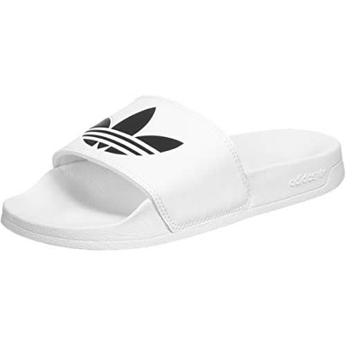 adidas Adilette Lite J, Scarpe da Ginnastica, Bianco (Ftwbla Negbás, 40 2/3 EU