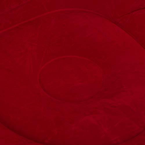 Yisenda Aufblasbares Sofa, Freizeit-Sofa Aufblasbare Liege Aufblasbarer Stuhl Langlebig mit Haushaltsluftpumpe für Wohnzimmer(Red Sofa with Pedal + Foot Pump, 116 * 98 * 83cm)
