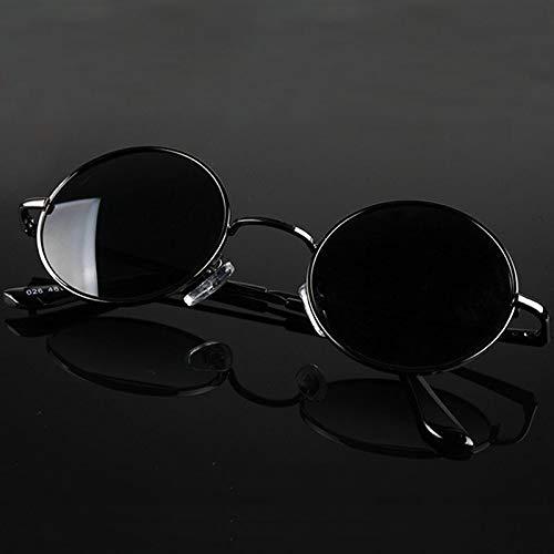 Gafas De Sol Nuevo Retro Clásico Vintage Redondo Gafas De Sol Polarizadas Hombres Diseñador De La Marca Gafas De Sol Mujeres Marco De Metal Lente Negr
