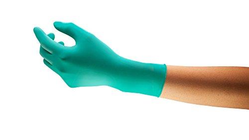 Ansell TouchNTuff 92-605 Einweg-Handschuhe in Nitril, Einmal-Handschuhe, Chemikalien- und Lebensmitteln-Industrie, Grün Größe 9.5 - 10 (Spender mit 100 Handschuhen)
