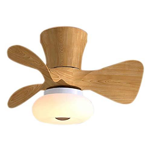 Ventilador De Techo 64W LED Lámpara Creative Regulable Ventilador De Techo Invisible Lámpara Luz De Techo Del Ventilador De Bajo Ruido Adecuado Para Sala De Estar Dormitorio Habitación Infantil