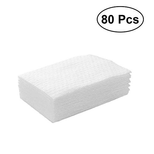 Frcolor 80 piezas de algodón suave desechable toalla de limpieza facial para la limpieza facial maquillaje eliminación de tela con caja de almacenamiento