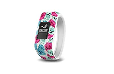 Garmin vívofit jr, Kids Fitness/Activity Tracker, 1year Battery Life, Real Flower (Renewed)