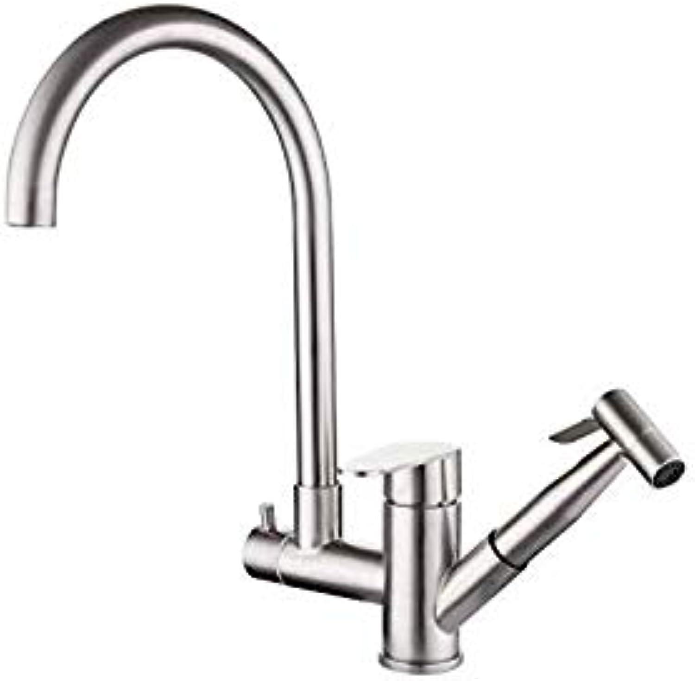 Wasserhahn Wasserhahn Wasserhahn Küche Küchenhahn 304 Multifunktions-Küchenwasserhahn Pull-Typ Heie Und Kalte Sink Sink Expansion
