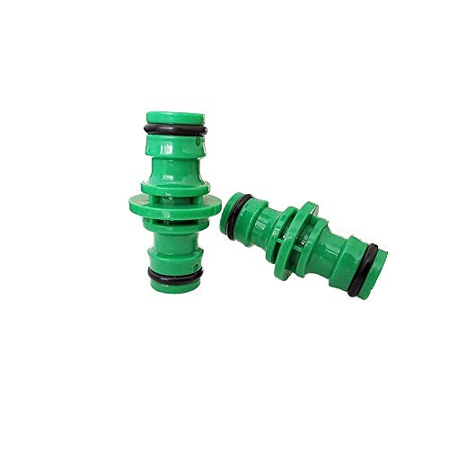 Handmade 10Pcs Garden Plastic Quick Connector 1/2'' Garden Hose Fittings Pipe Connector Homebrew Water Tube 2 Way Hose Repair Coupling Durable