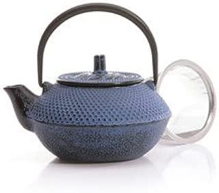 Cast Iron Teapot Tea Pot - Blue Bamboo 20 oz.