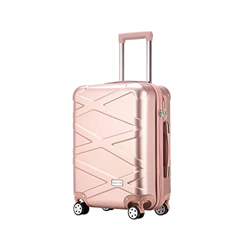 JIAWYJ Portatile-Valigia/dei Bagagli Stickcases Carry-on Bag Wheels Lightweight Travel WithCase SuitCaseShand 26 Pollici/Commodity Codice: LWH-30 (Color : Rose Gold)