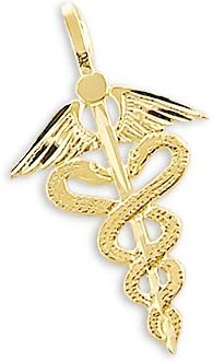 Elegant Sonia Jewels 14k At the price of surprise Yellow Gold RN Medical N Caduceus Charm Pendant