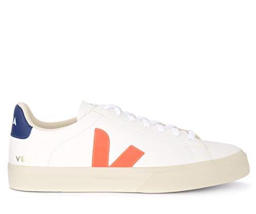 Veja Herren Sneaker Pack Man Campo Chromefree Weiss/orange (903) 45EU