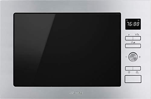 Smeg FMI425X Integrado - Microondas (Integrado, Microondas con grill, 25 L, 900 W, Botones, Giratorio, Acero inoxidable)
