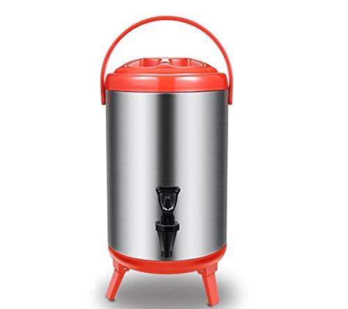 GKKXUE Isolation Fass Kaffeekanne Catering Wasserkocher Edelstahl große Kapazität 10L Getränkeautomat Familientreffen