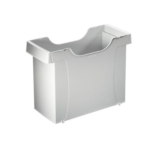 Leitz 19080085 Hängemappenbox Uni-Box Plus, für Hängemappen A4, Polystyrol, grau