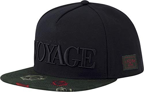 Cayler & Sons Herren Snapback Caps WL Bon Voyage Schwarz Verstellbar Gorras,...