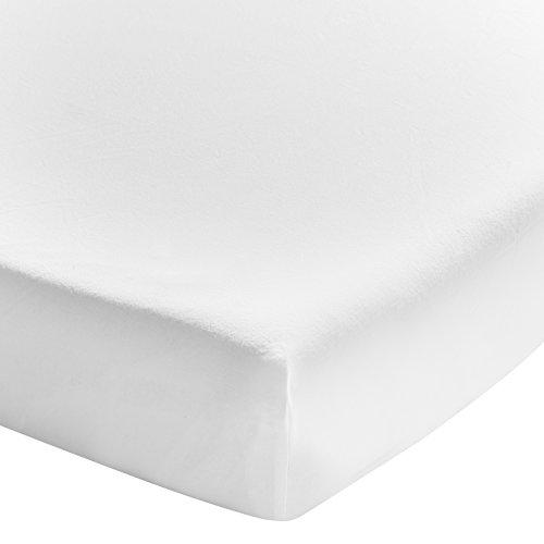 ESSIX Drap Housse, Coton, Blanc, 140x190 cm