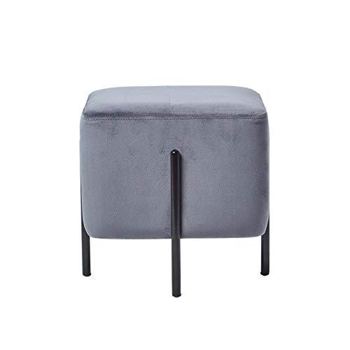 Homescapes skandinavische Samt Sitz Hocker, Nordische Pouf im minimalistischen Design, Sitzwürfel...