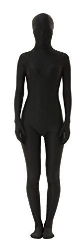 lttcbro Full Body Lycra Spandex Unisex Zentai Suit L Black