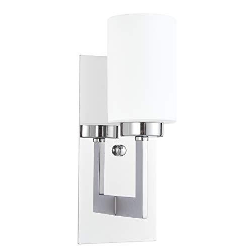 Brio Wall Sconce Light Fixture   Chrome Bathroom Wall Fixtures -