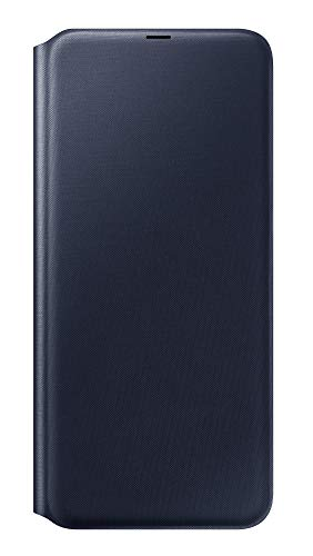 Funda billetera Samsung para Samsung Galaxy A70, Funda protectora plegable con funda para smartphone - Duradera con ranura para tarjeta para guardar sus tarjetas de crédito - Negro