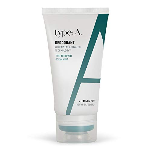 type:A Deodorant - Natural Active Ingredients, Aluminum Free Deodorants, Safe Non-Toxic Paraben Free, Non-Irritating, Clothing-Friendly, Cruelty-Free, Travel-Friendly (The Achiever - Ocean Mint)