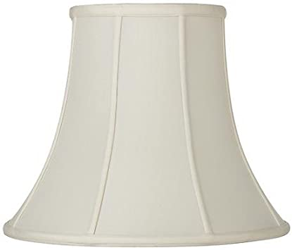 Silk Shantung Traditional Bell Shaped Lamp Shade Eggshell Color 16 Inch By Upgradelamps