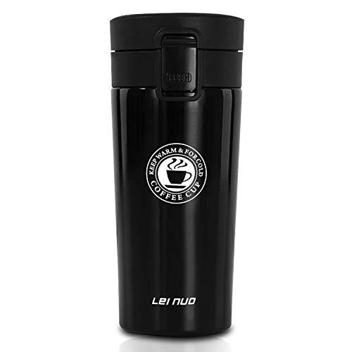 CX&LL Kaffeebecher aus Edelstahl, Isolierbecher Trinkflasche Doppelwandig mit Vakuumisolierung BPA-frei, Kaffee to go Becher 400ml, rostfrei 100% Auslaufsicher für Kaffee/Tee/Wasser/Reisen/Büro