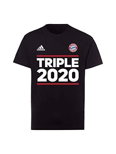 FC Bayern München T-Shirt Triple 2020 schwarz, L