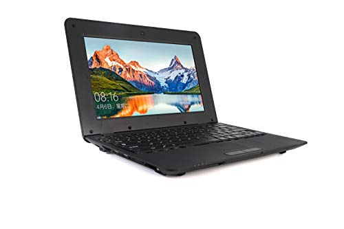 G-Anica Portatile, Display LCD 10.1 Pollici HD (Wifi, 1.5GHz 4 Go RAM 512 Mo) Netbook -Google Android 4.4.2 -Nero