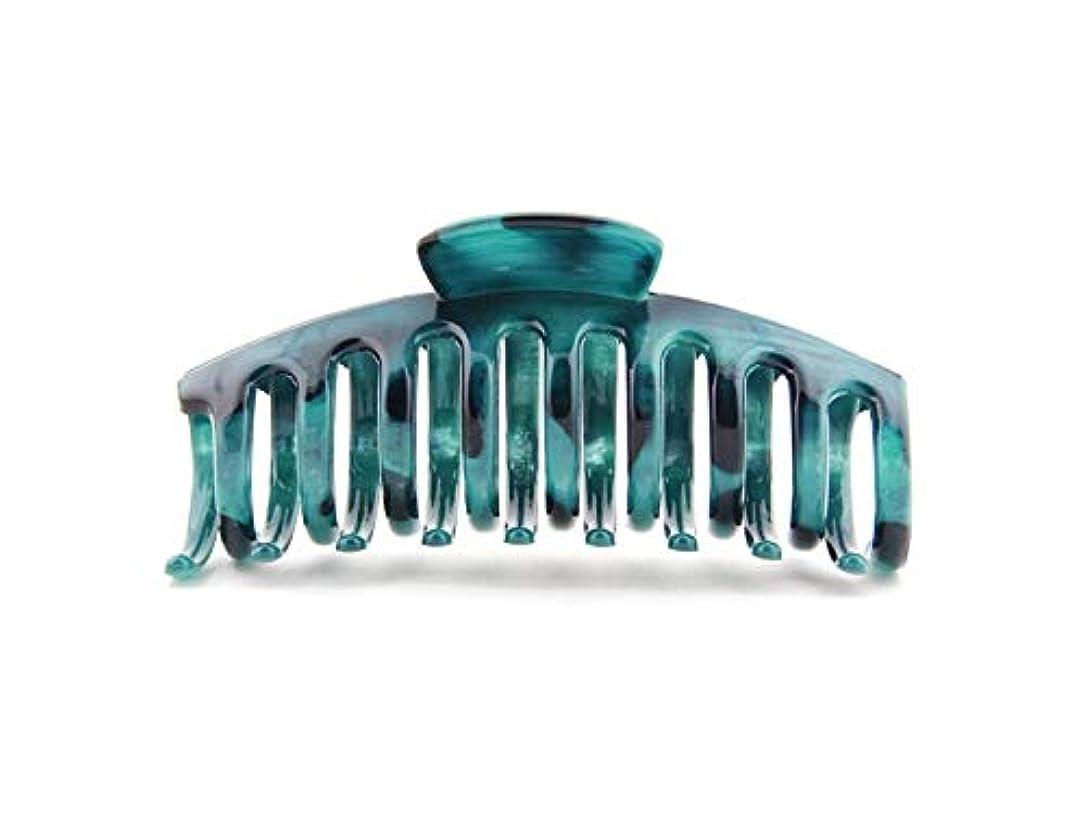 失望させるテロリスト上昇Osize 美しいスタイル 樹脂大きな爪クリップヘアピンジョークリップバスクリップヘアアクセサリー(ダークグリーン)