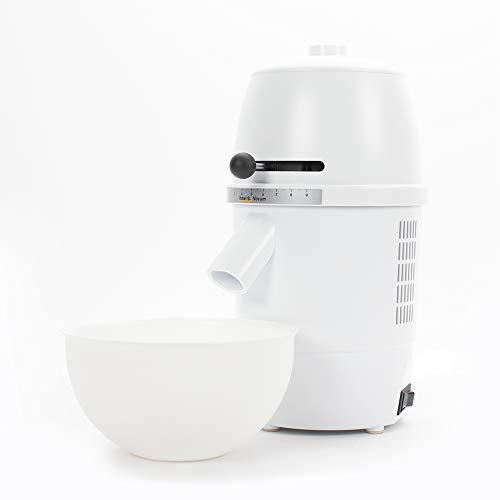 hawos Novum (Farbe: Weiß) - Elektrische Getreidemühle mit 360W Leistung in Formschönem Makrolon Kunsstoffgehäuse der Firma hawos Kornmühlen GmbH