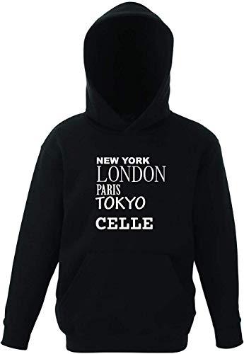JOllify CELLE Kinder Pullover Pulli Hoodie - Design: New York, London, Paris, Tokyo - Größe: 164 - 14-15 Jahre