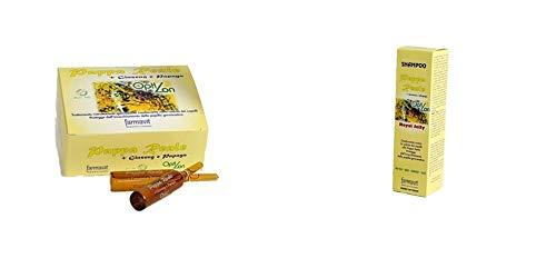 Farmavit Opti Lon - Tratamiento anticaída + ampollas con jalea real, ginseng y papaya