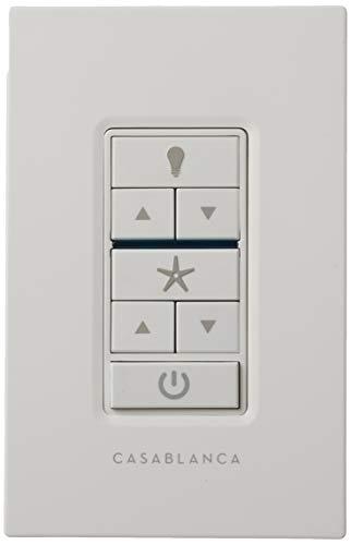 Casablanca 99195 Fan & Light Wall Remote Control, White