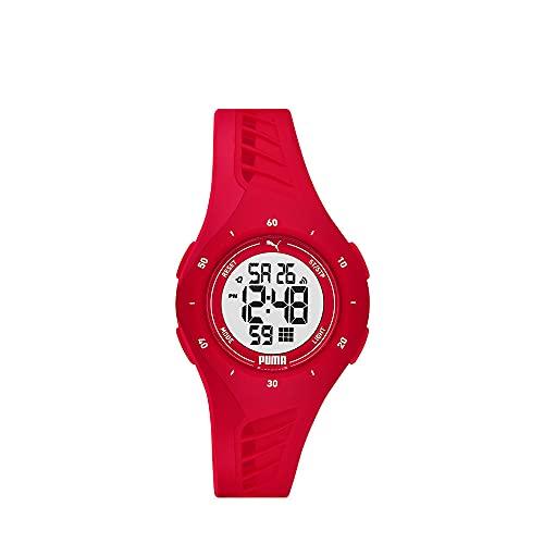 PUMA Damen Puma 3 LCD, Rot Polycarbonate Uhr, P6023