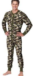 Hanes Mens Organic Cotton Camo Thermal Union Suit 14630