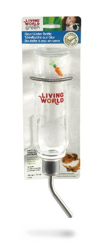 Living World Green auslaufsichere Trinkflasche , für Ratten, Meerschweinchen und Chinchillas, 355ml