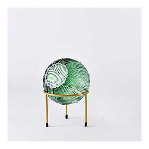 Glass Flower Vases Terrarium Hydroponics Pflanze Kunst-Glas-Vase Tabletop Blumentopf Ausgangsdekoration Bonsai Coffee (Color : GREEN SMALL)