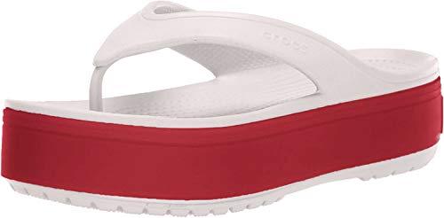 Crocs Unisex-Erwachsene Crocband Platform Flip U Dusch- & Badeschuhe, Pink (Barely Pink/Pepper 6qb), 41/42 EU