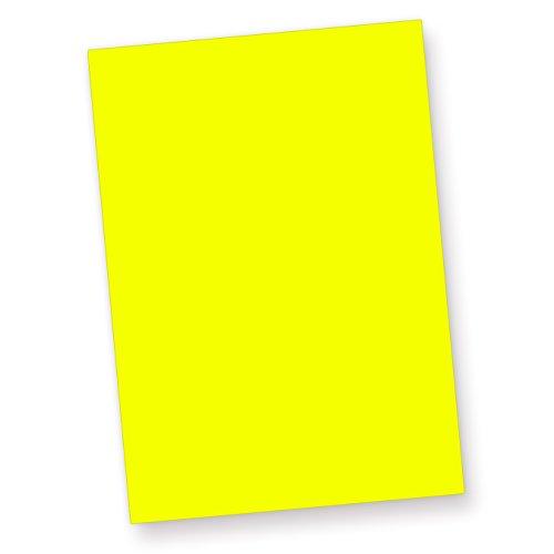 Neonpapier NEON DIN A4, 80 g/qm farbiges Briefpapier, Leuchtpapier, 50 Blatt - Gelb
