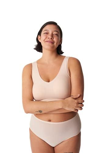 Chantelle Women's Soft Stretch Padded V-Neck Bra Top, Ultra Nude, M/L