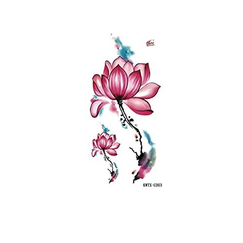 DSSJ Tatuaje Corrector de Tatuaje Acuarela Lotus Lotus Impermeable Hombres y Mujeres Pegatinas de Tatuaje Sexy Europeas y Americanas