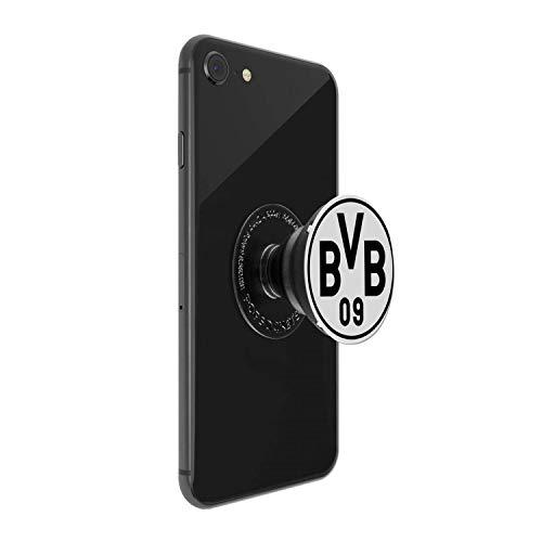 Borussia Dortmund Popsockets Silber Logo, Handyhalterung BVB 09 (L)