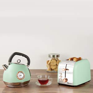 SQ Professional Breakfast Set 2pc Kettle 2200W & 2 Slice Toaster 900W