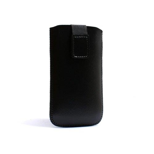 System-S Sleeve Hülle Tasche Etui mit Rückzugfunktion in Schwarz für Apple iPod Touch 1G 2G 3G 4G